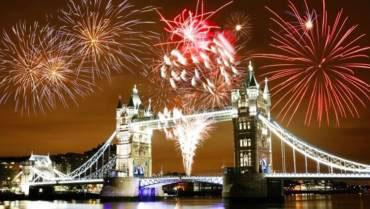 Feux de joie à Londres